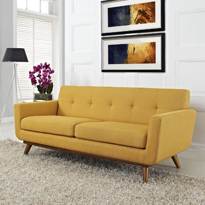 Johnston Tufted Upholstered Sofa Upholstery: Citrus