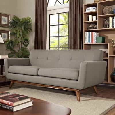 Johnston Tufted Upholstered Sofa Upholstery: Granite