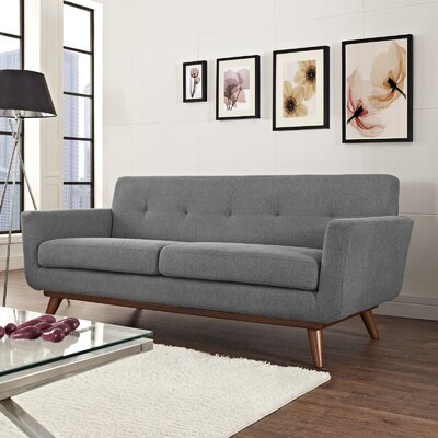 Johnston Tufted Upholstered Sofa Upholstery: Expectation Gray
