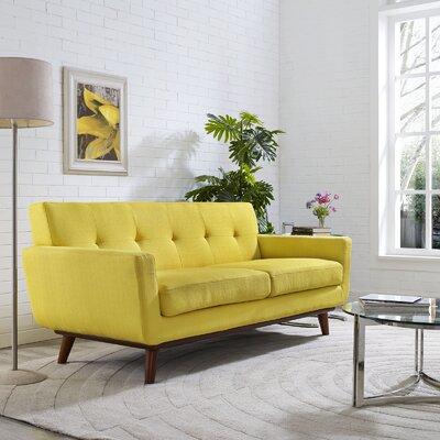 Johnston Tufted Upholstered Sofa Upholstery: Sunny