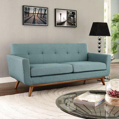 Johnston Tufted Upholstered Sofa Upholstery: Laguna