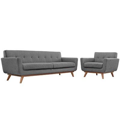 Saginaw Arm Chair and Sofa Set Upholstery: Gray