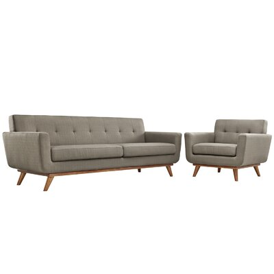Saginaw Arm Chair and Sofa Set Upholstery: Granite