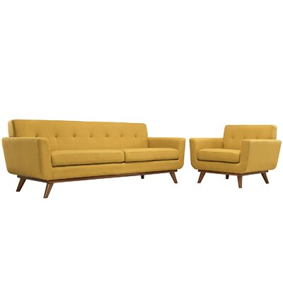 Saginaw Arm Chair and Sofa Set Upholstery: Citrus