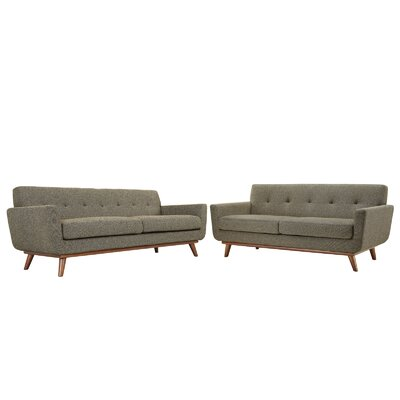 Saginaw Loveseat and Sofa Set Upholstery: Oat