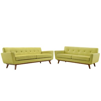 Saginaw Loveseat and Sofa Set Upholstery: Wheat