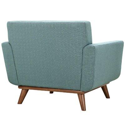 Saginaw Chair and a Half (Set of 2) Upholstery: Laguna
