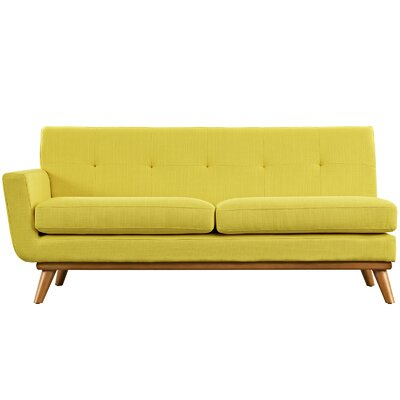 Saginaw Left-Arm Loveseat Upholstery: Sunny