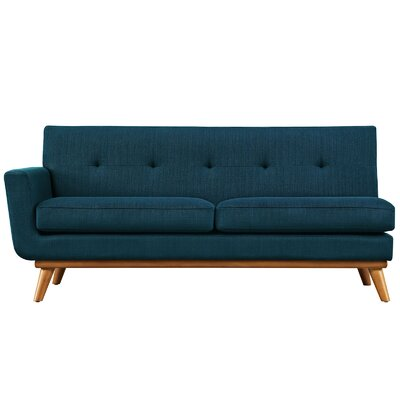 Saginaw Left-Arm Loveseat Upholstery: Azure