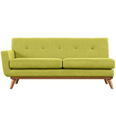 Saginaw Left-Arm Loveseat Upholstery: Wheatgrass