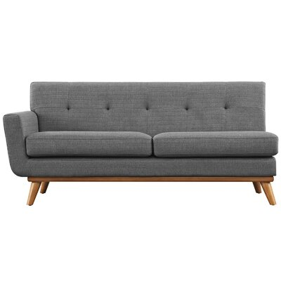 Saginaw Left-Arm Loveseat Upholstery: Expectation Gray
