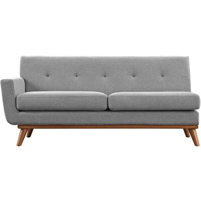 Saginaw Left-Arm Loveseat Upholstery: Gray