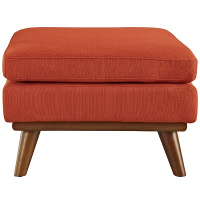 Johnston Ottoman Upholstery: Atomic Red