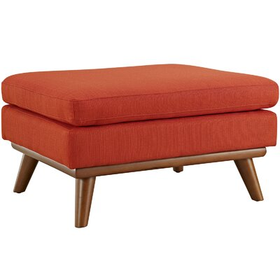 Saginaw Ottoman Upholstery: Atomic Red