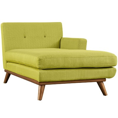 Saginaw Chaise Lounge Upholstery: Wheatgrass, Orientation: Left Hand Facing