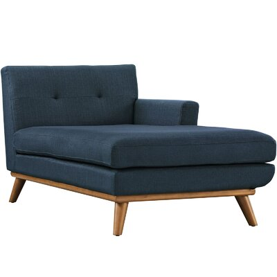 Saginaw Chaise Lounge Upholstery: Teal, Orientation: Right Hand Facing