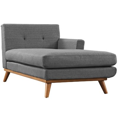 Saginaw Chaise Lounge Upholstery: Gray, Orientation: Left Hand Facing
