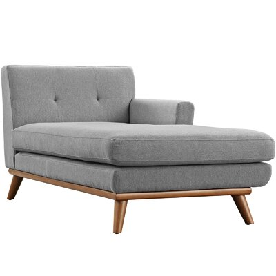 Saginaw Chaise Lounge Upholstery: Expectation Gray, Orientation: Left Hand Facing