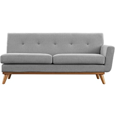 Saginaw Right-Arm Loveseat Upholstery: Gray