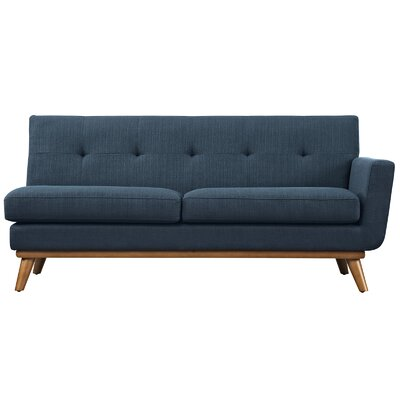 Saginaw Loveseat Upholstery: Azure, Orientation: Right Hand Facing, Size: 33.5 H x 67 W x 35 D