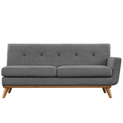 Johnston Loveseat Upholstery: Expectation Gray, Orientation: Right Hand Facing, Size: 33.5 H x 67 W x 35 D