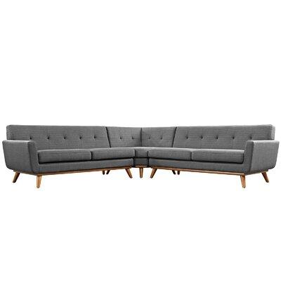 Saginaw Modular Sectional Upholstery: Gray