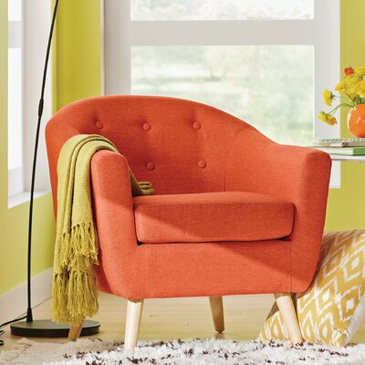 Henley Barrel Chair Color: Orange
