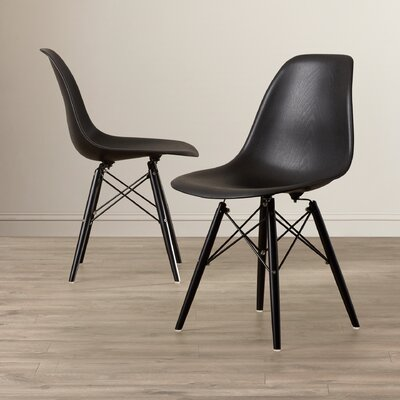 Cameron Side Chair Upholstery: Black