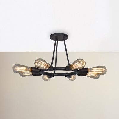 Flower Hill 8-Light Semi Flush Mount