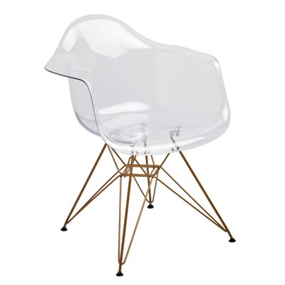 Mohnton Arm Chair (Set of 2) Finish: Clear / Gold
