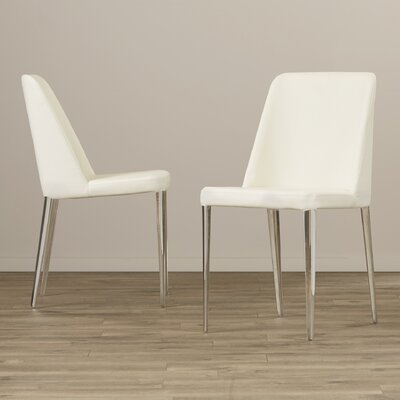 Drummaul Side Chair Upholstery: PU+Sponge - White