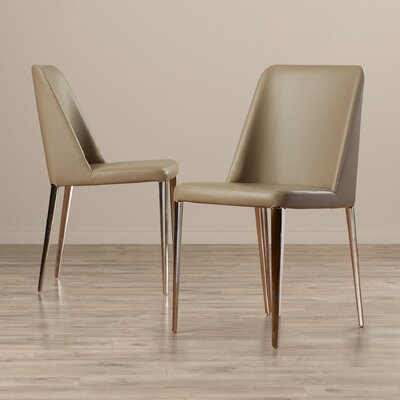 Drummaul Upholstered Dining Chair Color: Taupe