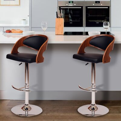 Garland Adjustable Height Swivel Bar Stool