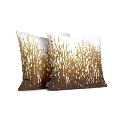 Farranshane Retrosuede Throw Pillow Size: 18 x 18, Color: Amber