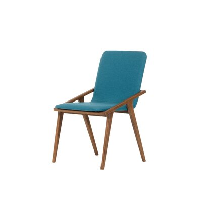 Mykonos Parsons Chair (Set of 2) Upholstery: Blue