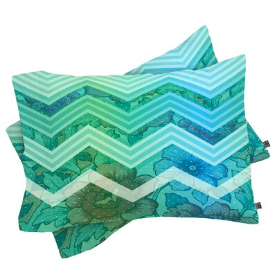 Bellevue Azul Pillowcase Size: King