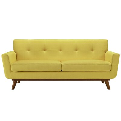 Johnston Tufted Upholstered Sofa Upholstery: Sunny