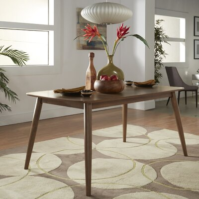 Chastain 63 Wood Dining Table Finish: Dark Walnut