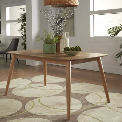 Chastain 63 Wood Dining Table Finish: Natural