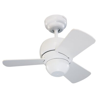 24 Thatcher 3-Blade Ceiling Fan Finish: White