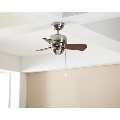24 Thatcher 3-Blade Ceiling Fan Finish: Brushed Steel