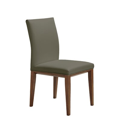 Fort Worth Genuine Leather Upholstered Dining Chair