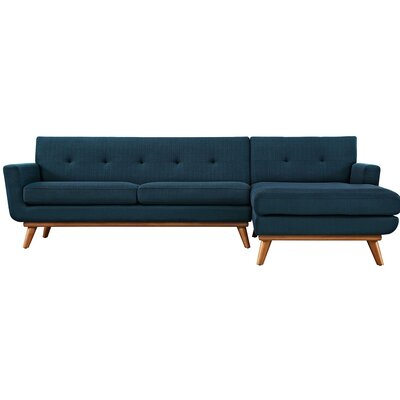Saginaw Sectional Collection Upholstery: Azure, Orientation: Right Hand Facing