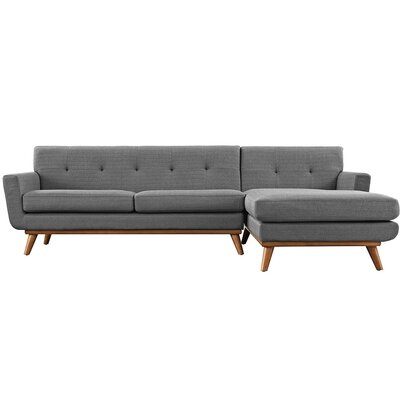 Saginaw Sectional Upholstery: Gray