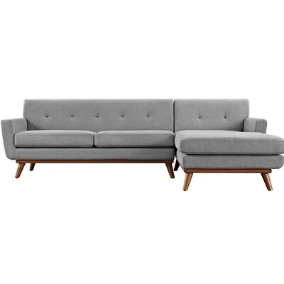 Saginaw Sectional Collection Upholstery: Expectation Gray, Orientation: Right Hand Facing