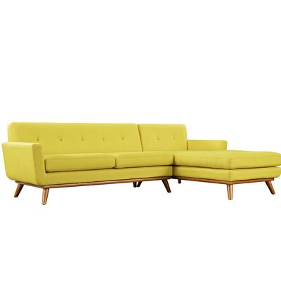 Johnston Sectional Upholstery: Sunny, Orientation: Right Hand Facing