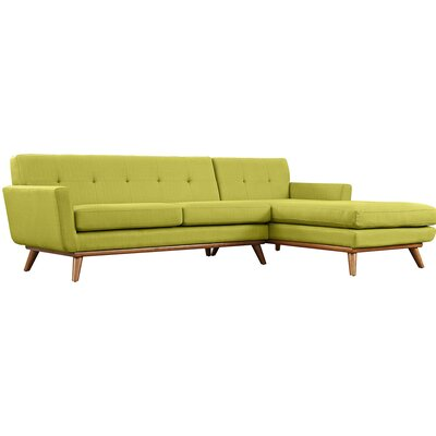 Johnston Sectional Upholstery: Wheat, Orientation: Right Hand Facing