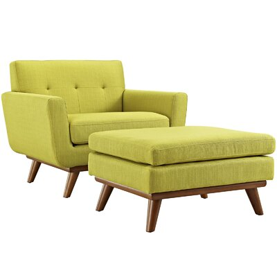 Saginaw Armchair and Ottoman Upholstery: Wheatgrass