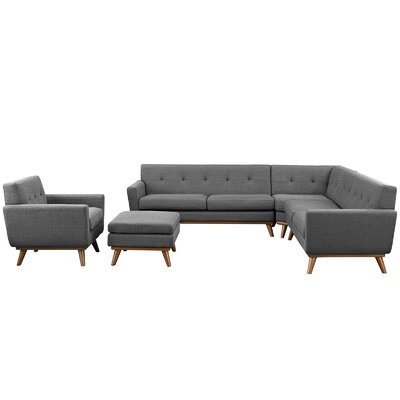 Saginaw 5 Piece Living Room Set Upholstery: Expectation Gray