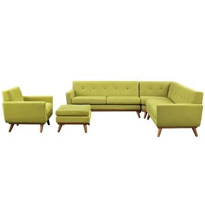 Saginaw 5 Piece Living Room Set Upholstery: Wheatgrass